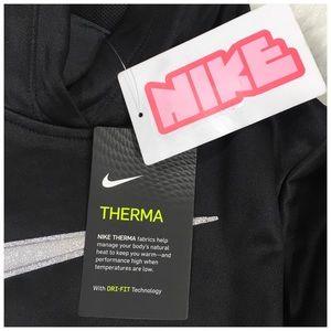 Nike Shirts & Tops - Nike Girls Therma Hoodie in Black Silver Glitter